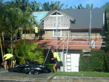 A Byron Bay house before the roof transformation