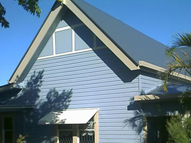 New metal roofs, fascias and guttering give an old house a new modern look